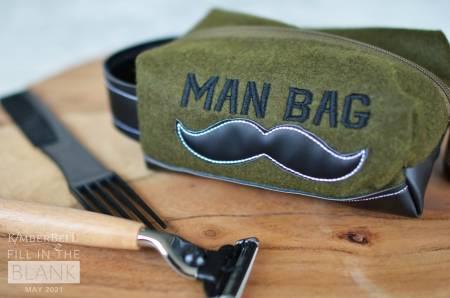 MAY Man Bag Zipper Pouch Blank Felt Olive Small 25pk