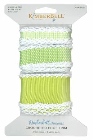 Crocheted Edge Trim Lime Green