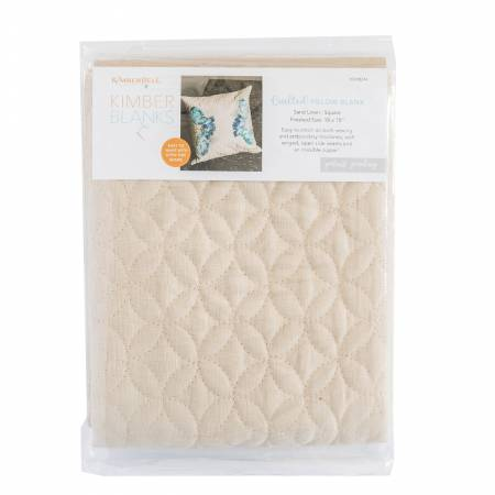 Quilted Pillow Cover Blank, 19inx19in Sand Linen, Orange Peel Quilting
