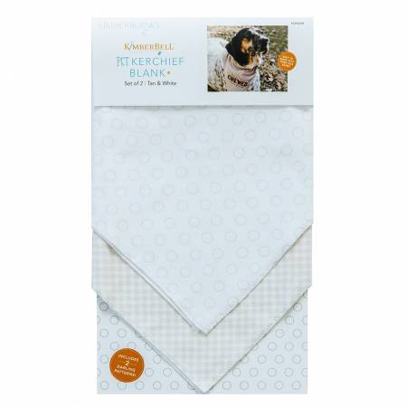 Pet Kerchief Blanks, Set of 2, Tan & White