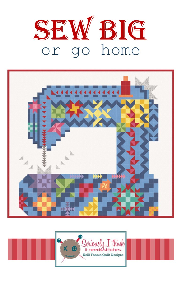 Color Outside the Lines Quilt Pattern by Kelli Fannin Quilt Designs KFQP122