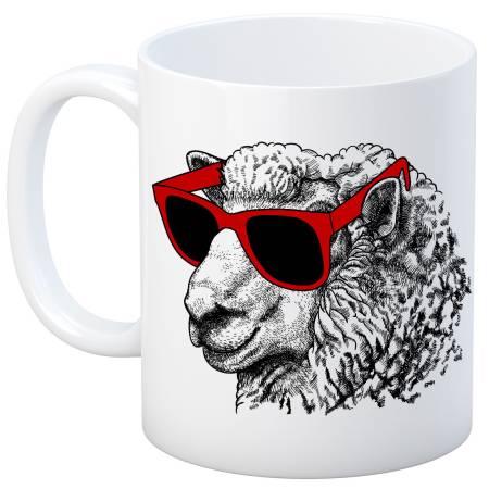 Knit Happy White Cool Sheep Mug