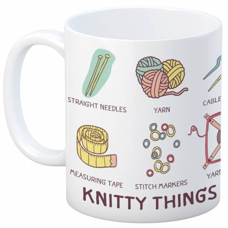 Knit Happy Knitty Things Mug