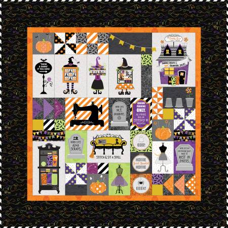 Candy Corn Quilt Shoppe Kit - Fabric Only, 40in x 40in