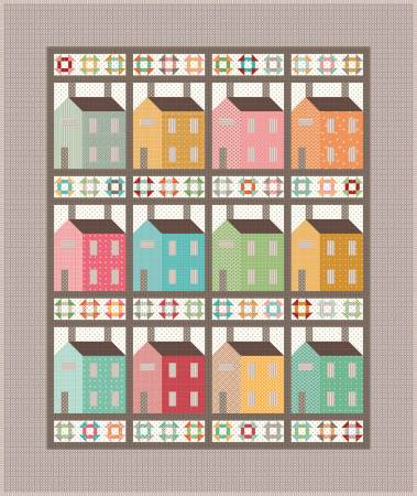 Prim Village Quilt Kit, 57in x 68in, incl. pattern & fabric for top & binding