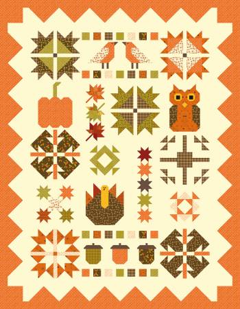 Quilt Kit Fabulous Fall 48in x 59in, incl. pattern, fabric for top & binding