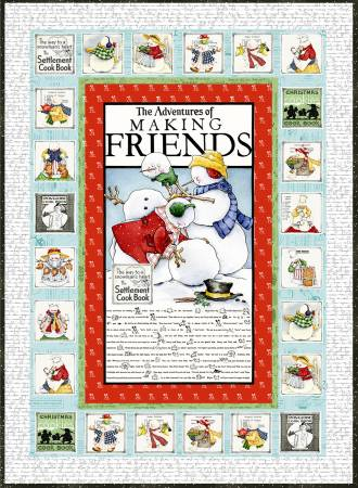 Snow Sweet Advent Quilt Kit, 55inx77in, incl. pattern & fabric for top & binding
