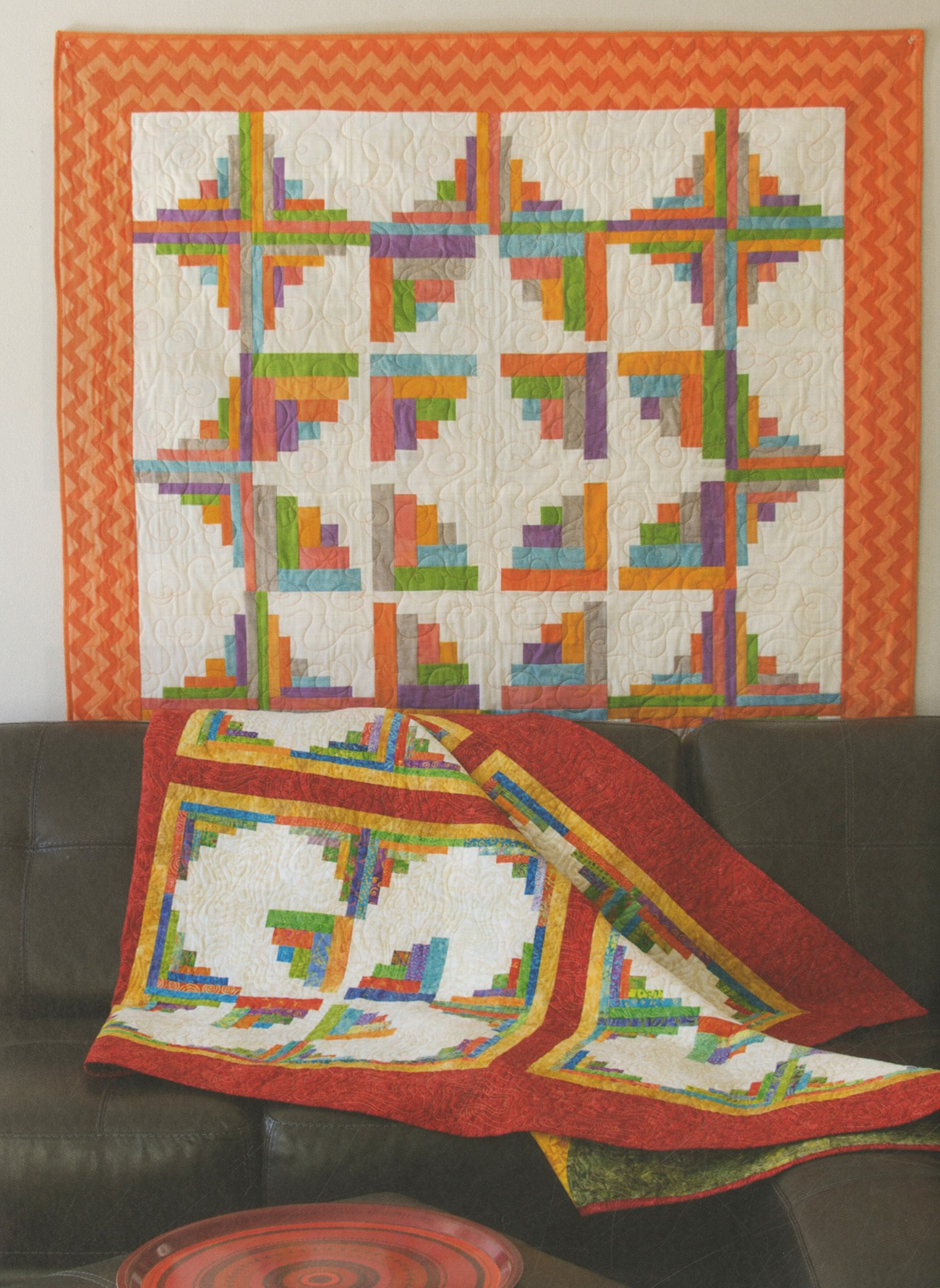 Curvy Log Cabin Quilts Softcover By Wright Jean Ann