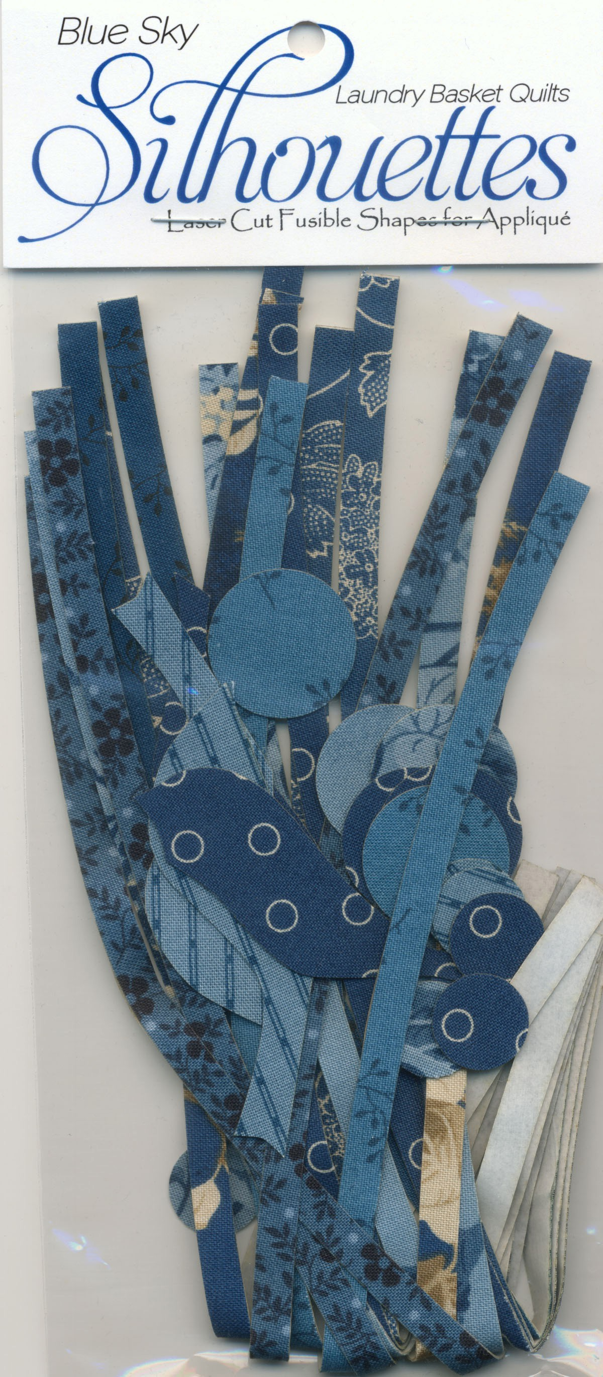 Reaching Blue Sky Appliques Silhouettes Laundry Basket Quilts