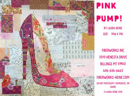 Pink Pump Collage Pattern