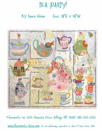 Tea Party Collage Pattern