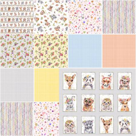 10in Squares Little Darlings Woodland, 42pcs/bundle
