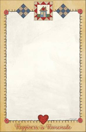 Quilt Note Pad 5-1/2in X 8-1/2in