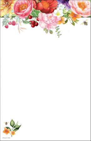 Floral Note Pad 5-1/2in X 8-1/2in