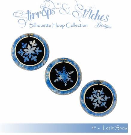 Let It Snow 4 inch Hoop Kit Combo