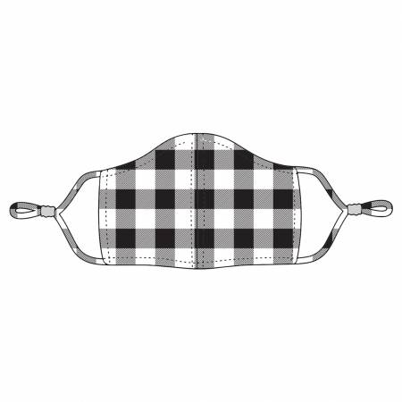 Black Buffalo Check Adjustable Mask