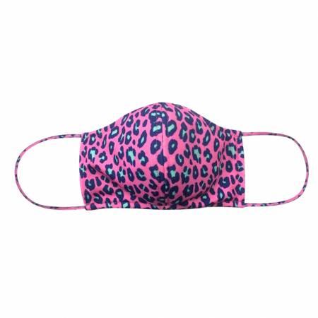 Hot Pink Leopard Adjustable Mask