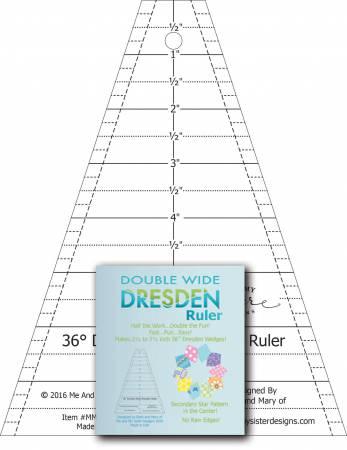 Double Wide Dresden Ruler