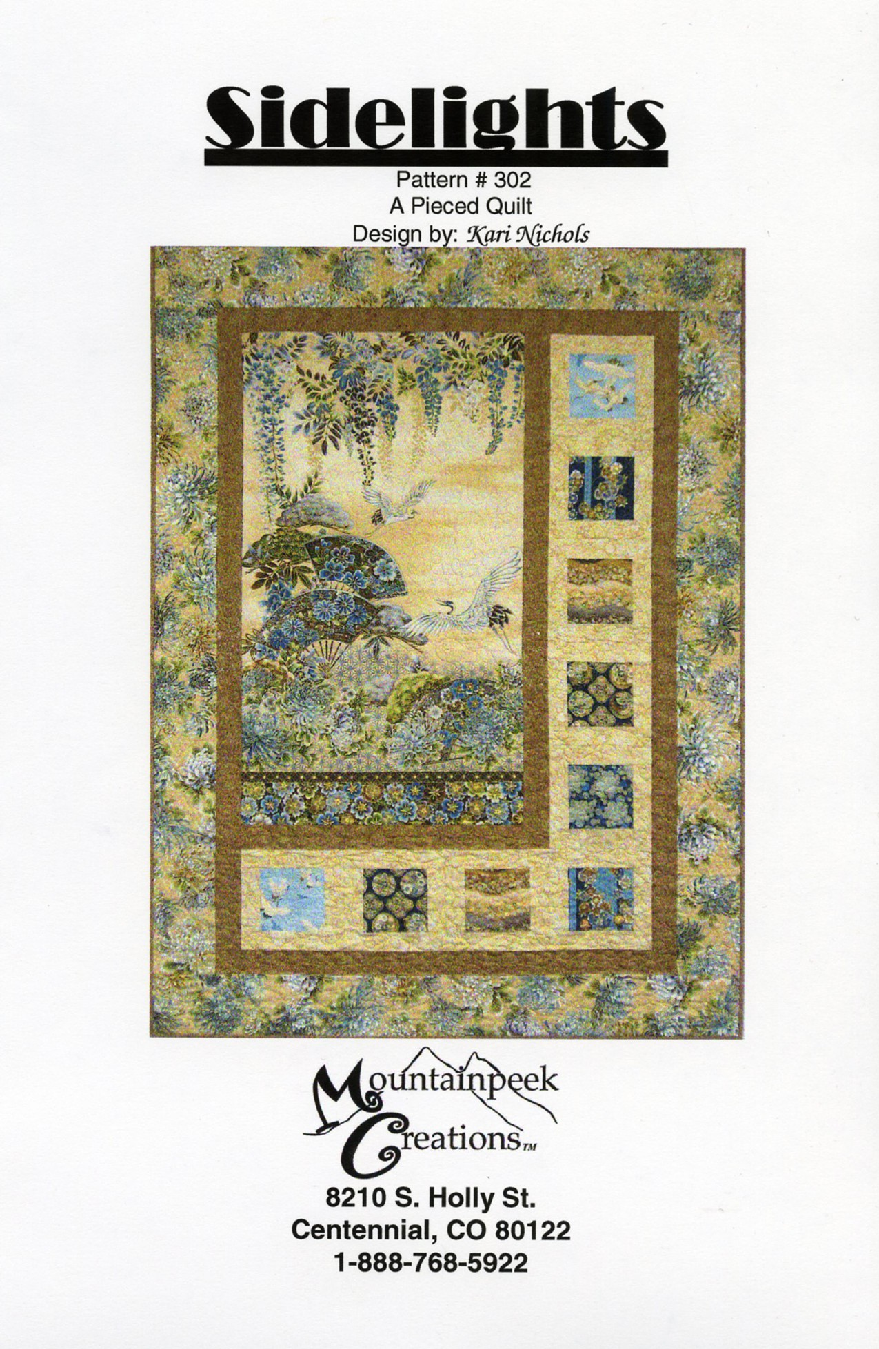 From MountainPeek Creations NEW TREE OF LIFE SIDELIGHTS PANEL QUILT PATTERN