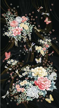Multi Niwa Floral Panel, 15 panels per bolt