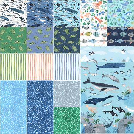 Assortment Oceans Away 18pcs x 15yds