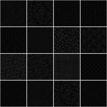 10in Squares Onyx, 42pcs, 3 bundles/pack