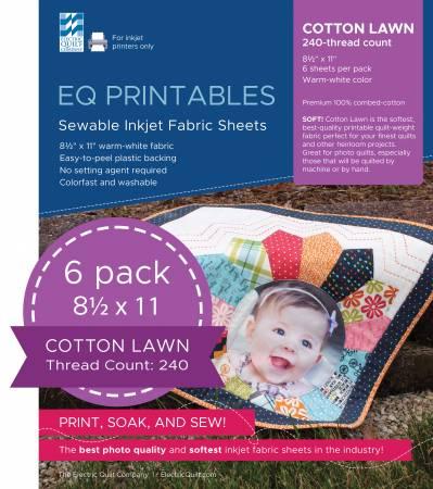 Premium Cotton Lawn Inkjet Fabric Sheets