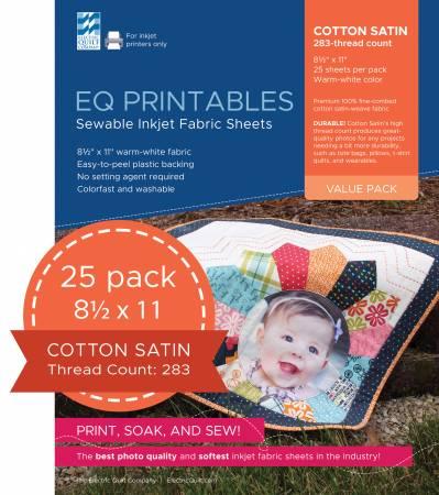 Premium Cotton Satin Inkjet Fabric 25 Sheets per pack