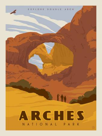 National Parks Panel Arches  Panel size is 36 x 43 1/2