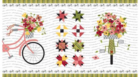 Petals And Pedals 24in Panel White