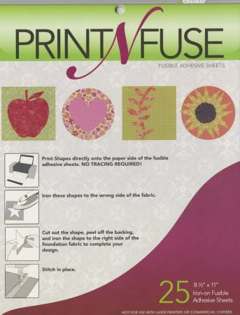 Print n' Fuse 8-1/2in x 11in Inkjet Fusible Sheets 25ct