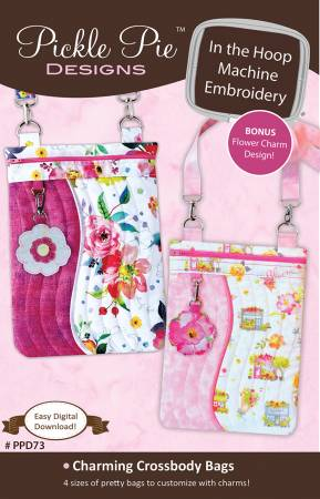 Charming Crossbody Bags In The Hoop Machine Embroidery Design CD