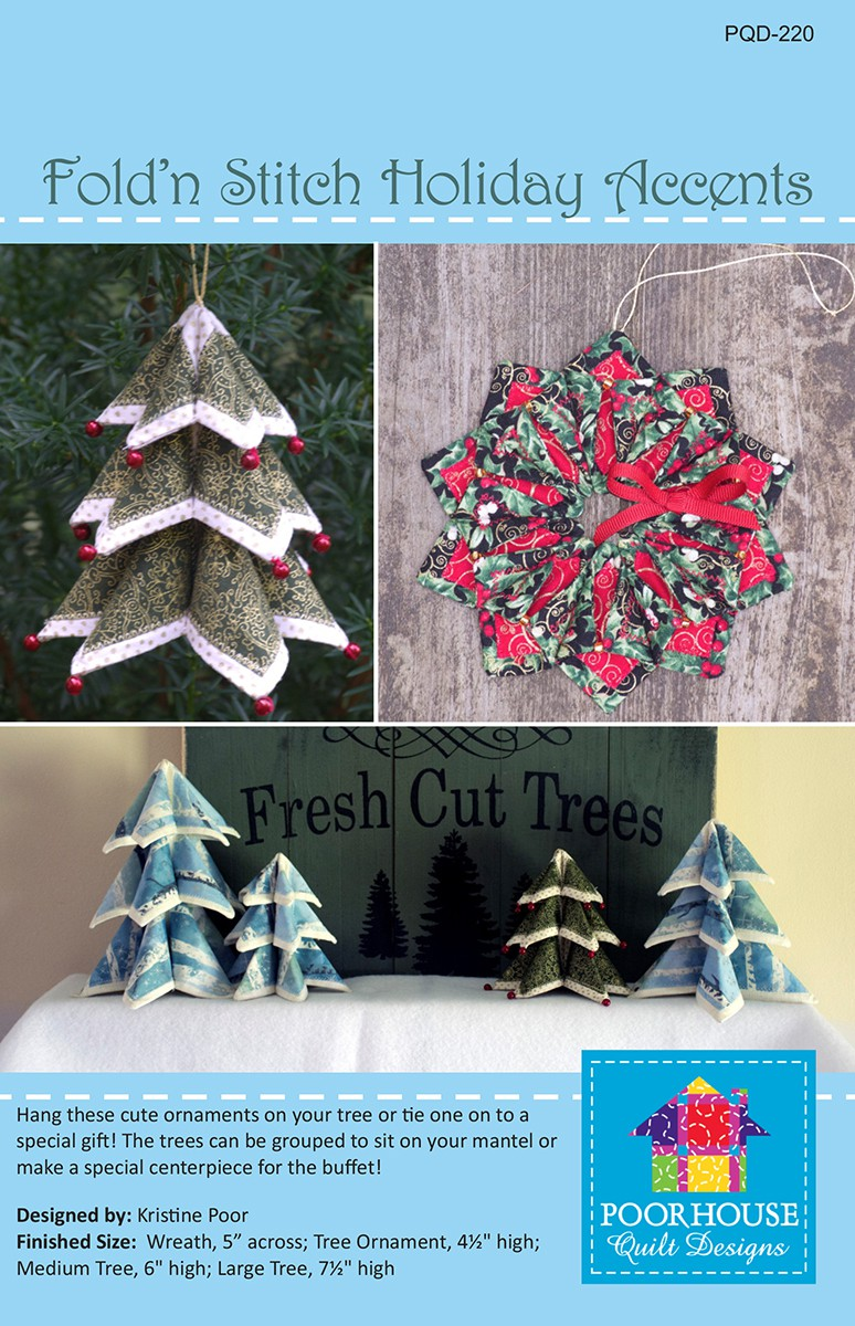 Fold N Stitch Holiday Accents By Poor Kristine