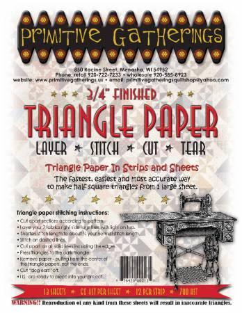 3/4in Triangle Paper