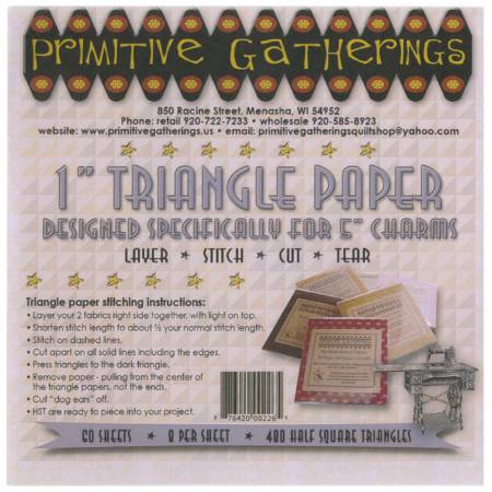 1in Triangle Paper-For Charms