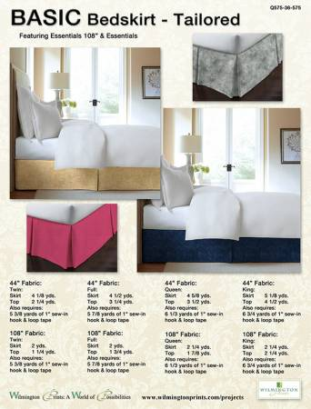 Basic Bed Skirt Tailored, Free Download below, will NOT SHIP.