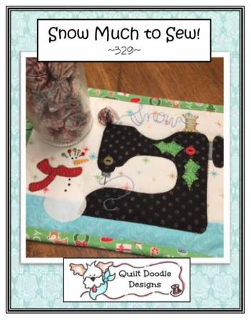 Snow Much To Sew Mug Rug