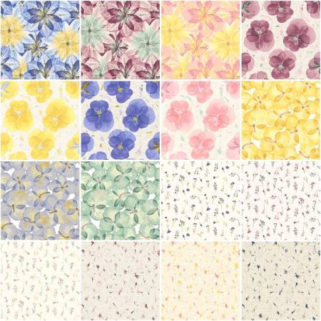 10in Squares Pressed Floral, 42pcs, 2 bundles/pack