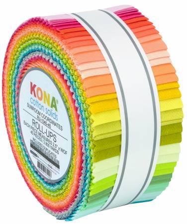 2-1/2in Strips Sunroom Kona Coordinates, 40pcs/bundle