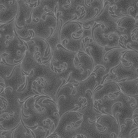 Dark Grey Vine Scroll w/Metallic