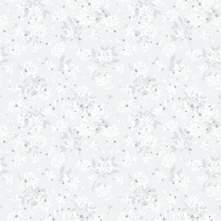 Ice Blue Leaves w/Metallic