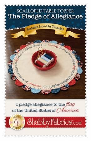 Scalloped Table Topper - The Pledge of Allegiance