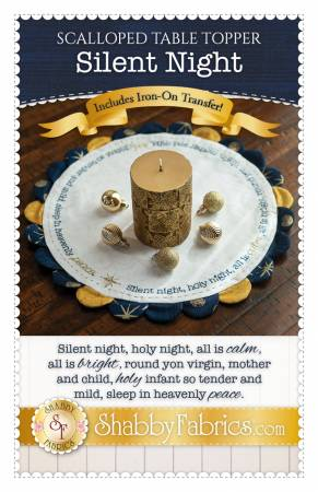 Scalloped Table Topper - Silent Night