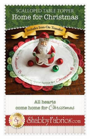 Scalloped Table Topper - Home for Christmas