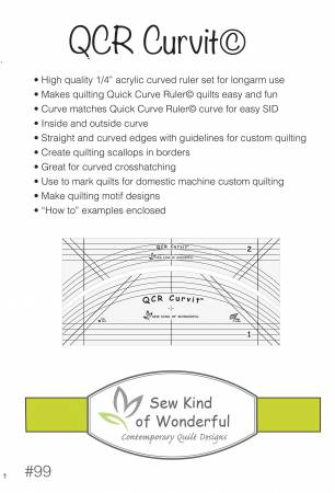 QCR Curvit Ruler for Longarm Quilting