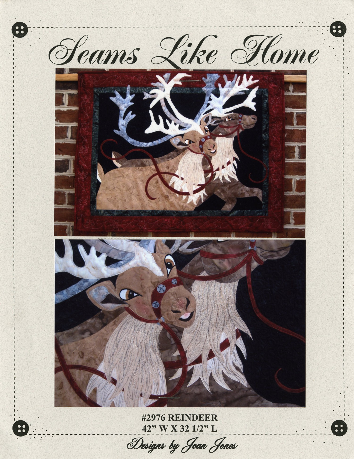 Jolly Old Santa Applique Wall Hanging Quilt Pattern by Seams Like Home