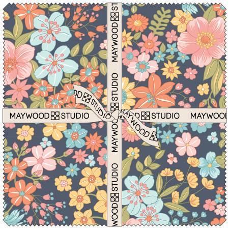10in Squares Sunlit Blooms, 42pcs/bundle