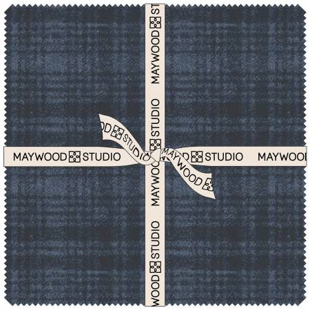 10in Squares Woolies Flannel Stormy Seas, 42pcs/bundle