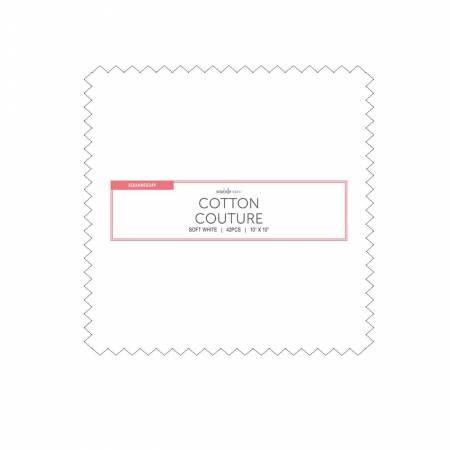 10in Squares, Cotton Couture, Soft White, 42pcs/bundle