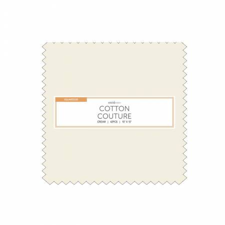 10in Squares, Cotton Couture, Cream, 42pcs/bundle